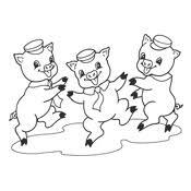 Kleurplaten De Drie Biggetjes Kindersprookje
