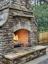 building outdoor fireplace cinder block