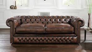 Image of: Furniture Home Decor With Leather Chesterfield Sofa And Mirrored  Regarding Leather Tufted Sofa