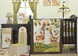 image of animal neutral crib bedding sets