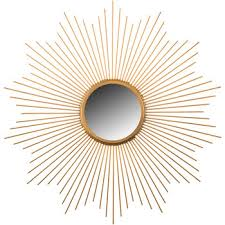 gold metal starburst wall mirror hob lob 1130624 intended for attractive home gold starburst wall decor decor