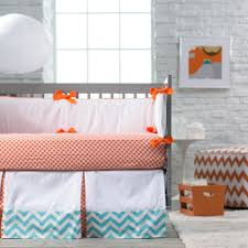 blue and orange nursery crib sets bedding for baby girls and boys