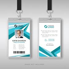 Abstract Corporate Id Card Design Template Vector Premium