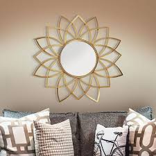 Shop target for wall decor you will love at great low prices. Serena Sunburst 36 Round Wall Mirror In Gold In 2021 Gold Mirror Wall Gold Walls Mirror Wall Art