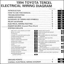1994 toyota tercel wiring diagram manual original 1994 Toyota Corolla Wiring Diagram 1994 toyota tercel wiring diagram manual original table of contents 1994 toyota corolla ignition wiring diagram