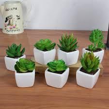indoor articial bonsai flower leaf articial bonsai ceramic flower pot plastic leaf high quality indoor office beautifying office bonsai grass pots planters mini