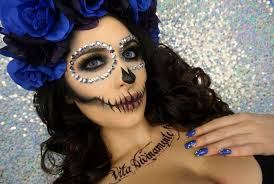 sugar skull makeup tutorial halloween makeup