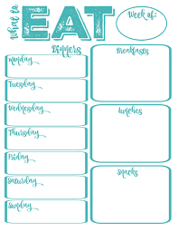 Pantry Makeover Free Printable Weekly Meal Planner And Shopping