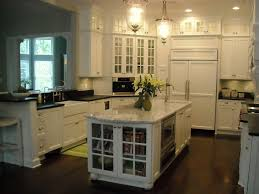 Glass Kitchen Cabinet Doors Kitchen Traditional with None