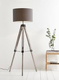modern wood floor lamp with tripod clicvan and green shade navy grey gold leaf to earn an open layout much more natural begin wooden brushed nickel metal