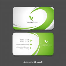 Buiness Card Business Card With Abstract Wavy Shapes Vector Free Download