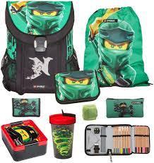 Familando Lego Ninjago Easy Energy School Bag Set 8 Pieces Lloyd Green  Spinjitzu Pencil Case, Rain Cover & Bottle Set: Amazon.de: Luggage