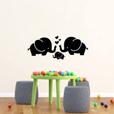 cute elephant hearts family wall decals for baby room decor kids room wall stickers customized wall decals damask wall decals from flylife 4 53 dhgate