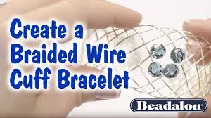Create a <b>Braided Wire</b> Cuff Bracelet - YouTube