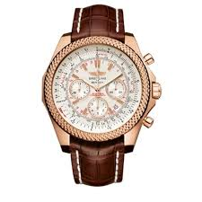 breitling bentley motors silver dial chronograph rose gold care brown leather mens watch r2536712g674brcd r2536712g674 jpg