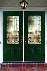 glass panel front doors