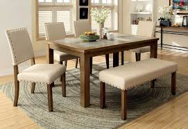 6 Pc Melston Dining Set In Natural Stone Top Cm3531bn Usa
