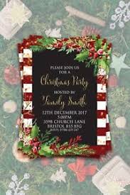 Christmas Inviations Details About Personalised Christmas Invitations Party Invites Festive Holidays Winter