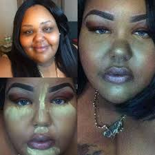 hooded eyes hyper pigmentation contouring a round face makeup tutorial plus size edition