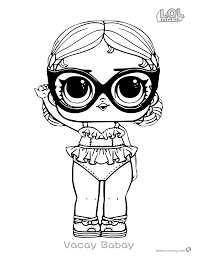 Coloring Pages Lol Surprise Doll Coloring Pages Vacay Babay Free