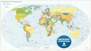 High Quality World Map High Quality Outline Genuine Maps