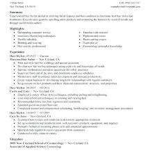 Resume For Cosmetology Student Cosmetology Instructor Resume Cosmetology Sample Resume Cosmetology