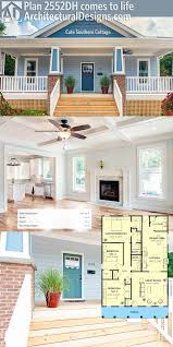 craftsman house plans with basement garage luxury plan 2552dh cute southern cottage