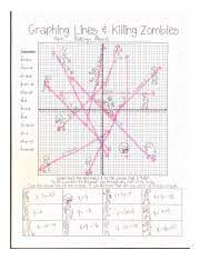 Displaying 8 worksheets for graphing lines and killing zombies answer key. Graphing Lines U00a2 Killing Zombies Course Hero