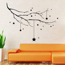 home decor black star and tree branch wall decal sticker christmas within art plans 7  on star wall art designs with branch wall decor cyan design with regard to art designs 3