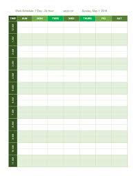 Work Hour Schedule Template Under Fontanacountryinn Com