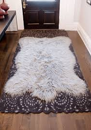 area rugs nice rug runners on and faux fur survivorspeak ideas black sherpa brown sheepskin