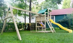 ... empty back yard for a couple of years now as our little toddler has  grown into a full-fledged climbing monkey. Obviously we need some kind of  playground ...