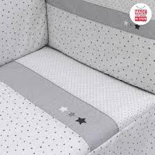 cot bedspread and per set grey star