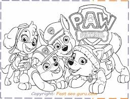 Paw Patrol Everest Rubble Chase Coloring Pages Printable Coloring