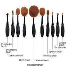 oval makeup brush set. \ oval makeup brush set e