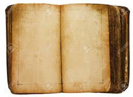 old book with blank pages stock photo 5709153