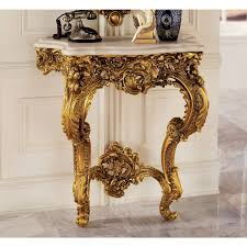 antique console table. Amazon.com: Design Toscano Madame Antoinette Wall Console Table In Faux Antique Gold: Kitchen \u0026 Dining