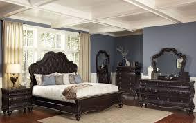 King Bedroom Sets Jeromes Palisades Black Cherry Upholstered Panel ...
