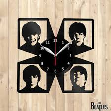 image is loading the beatles vinyl record wall clock wall decor  on wall art vinyl records with the beatles vinyl record wall clock wall decor art home 12 30cm