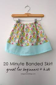 Simple Skirt Pattern With Elastic Waist Simple Decoration