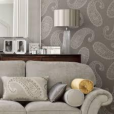 Laura Ashley Wallpaper Bedroom Emperor Paisley By Laura Ashley Dove Grey Wallpaper Direct