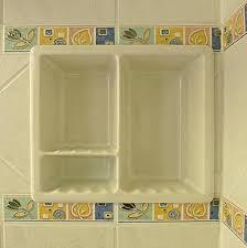 bathroom remodeling recessed soap shampoo dish ceramic shower holder