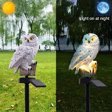 LumiParty White <b>Owl Solar LED</b> Lawn & Garden <b>Light</b> for Outdoor ...
