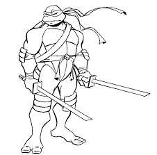 Ninja Turtles Coloring Pages Printable Easy Teenage Mutant Ninja