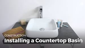 learn installing a countertop sink diy projects