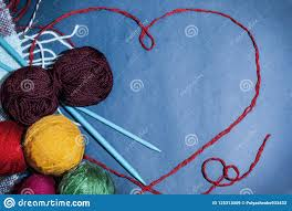Knitting Cards Designs Background Design And Cards Handmade Knitting Heart And