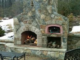 outdoor fireplace oven combination more