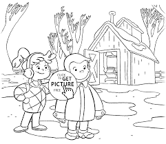 Curious George Coloring Pages For Kids Printable Free Coloing