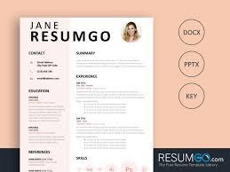Eudora Pink Resume Template Resumgocom