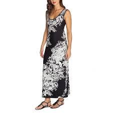 Mario Serrani Ladies Maxi Dress Black White Floral